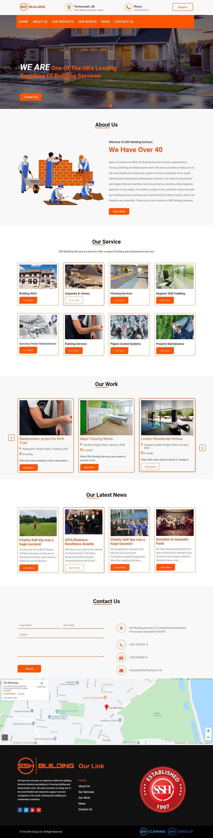 Конкурсная заявка №89 для Website Design & Build - Building Maintenance Company
