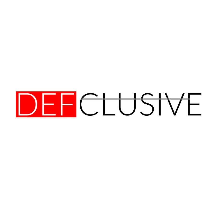 Kilpailutyö #1809 kilpailussa Defclusive needs a logo!