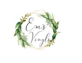 "#46 untuk I want a logo that says ""Em's Vinyls"" I want it to be feminine. I love the colors olive green, and white. I love boho and farmhouse style. I am using this logo for my business of vinyl cups, tshirts, car decals, etc.  - 17/11/2019 12:37 EST oleh nhussain7024"