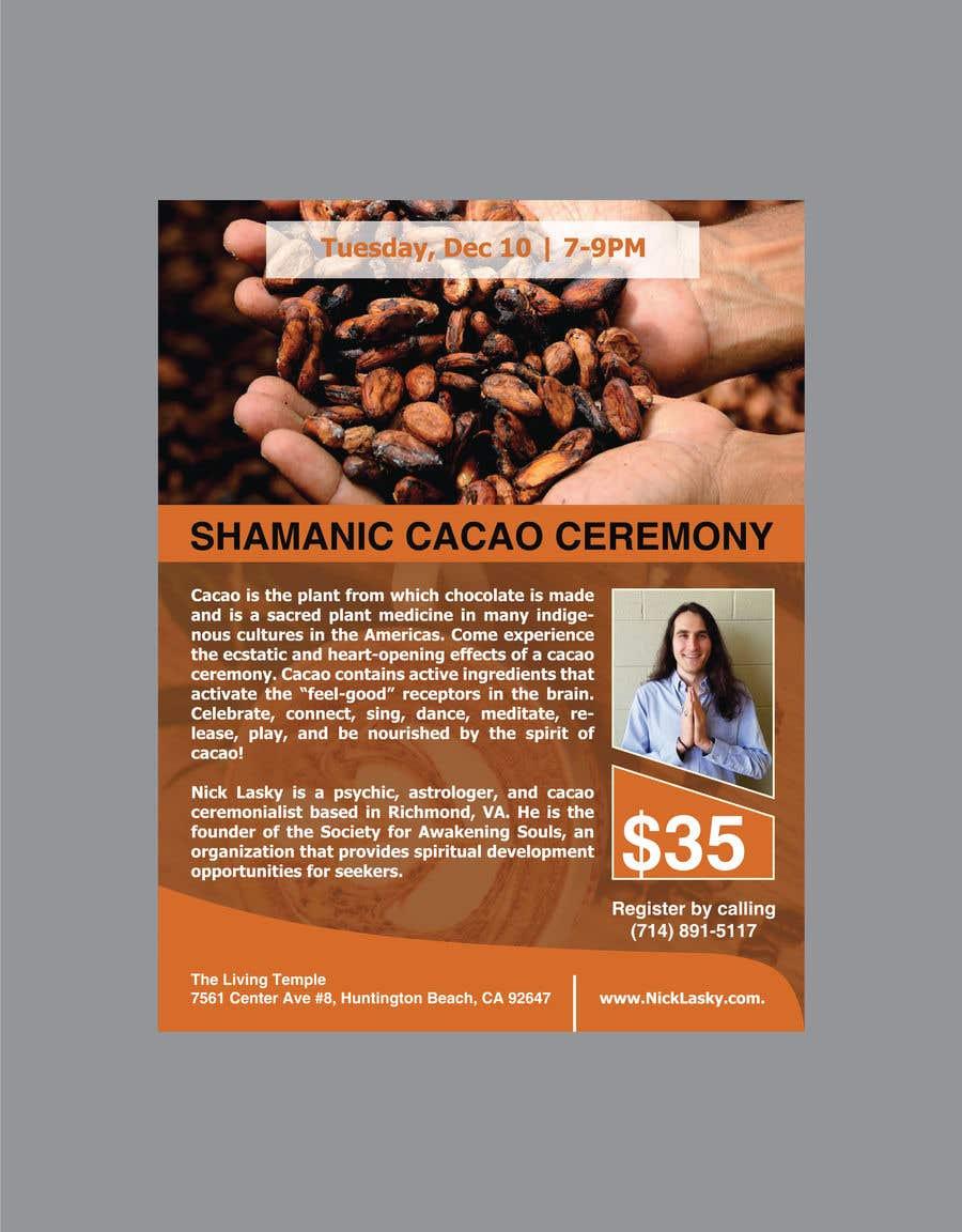 "Intrarea #39 pentru concursul ""Flyer for Cacao Ceremony"""