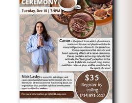 #74 pentru Flyer for Cacao Ceremony de către taslimalima905