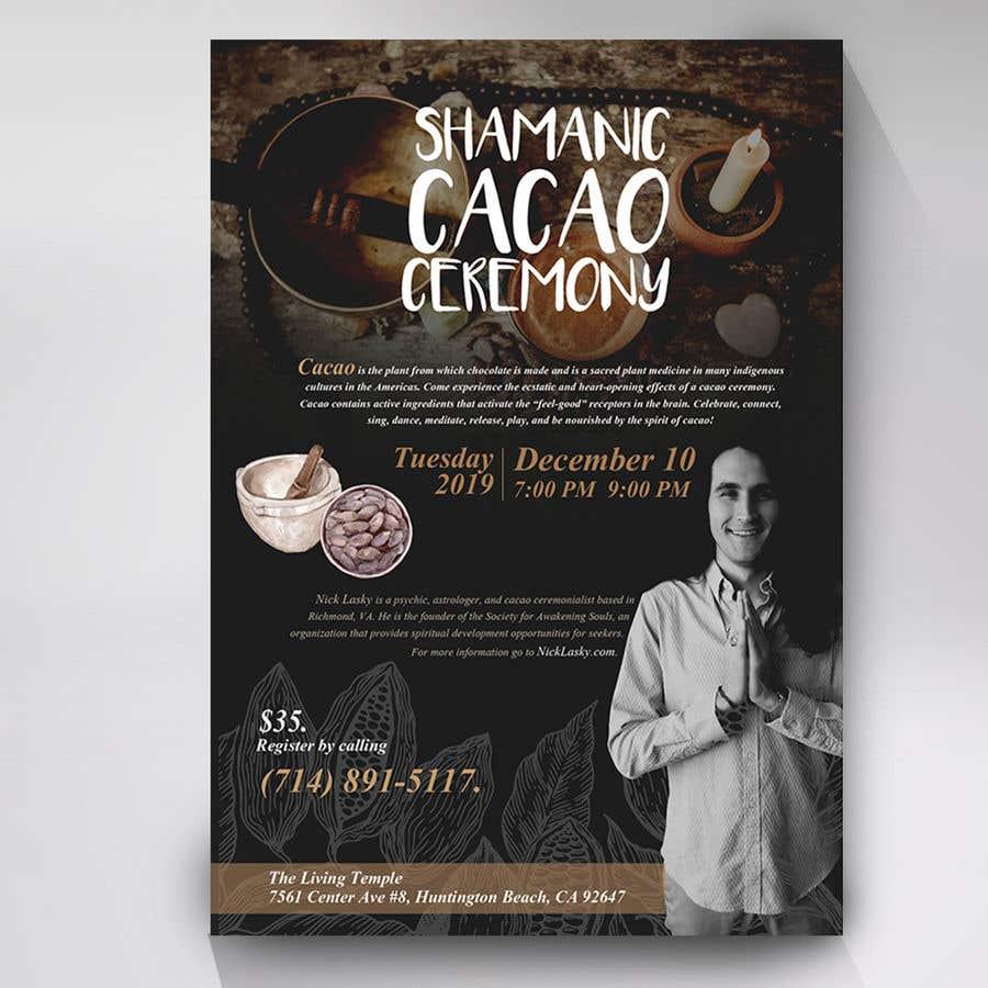 "Intrarea #70 pentru concursul ""Flyer for Cacao Ceremony"""