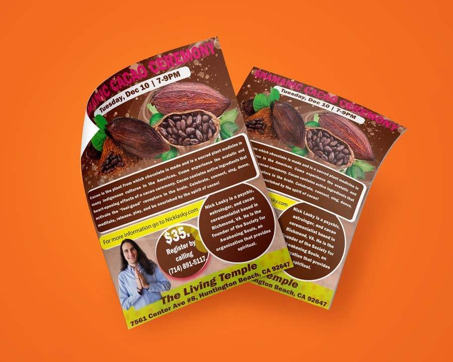 "Intrarea #                                        37                                      pentru concursul ""                                        Flyer for Cacao Ceremony                                     """