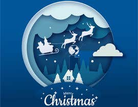 #78 cho Design Christmas logo and Christmas card in blue colors bởi shahbaz033217945