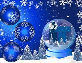 #87 cho Design Christmas logo and Christmas card in blue colors bởi Yoova