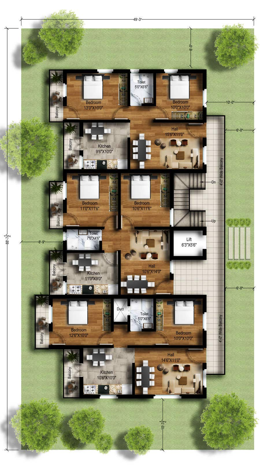 Create an attractive floor plan