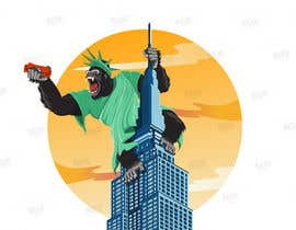 #30 для Vector: King Kong on Empire State Building with additional details от ryomboxstudio