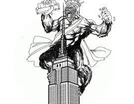 #11 для Vector: King Kong on Empire State Building with additional details от berragzakariae