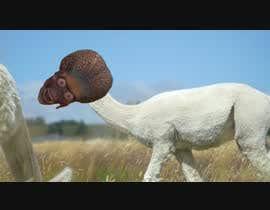 #3 для 4 second video ----- Remove Lama head --------- replace with alien head.  Match colour.   ------  Film  ------ от suechi