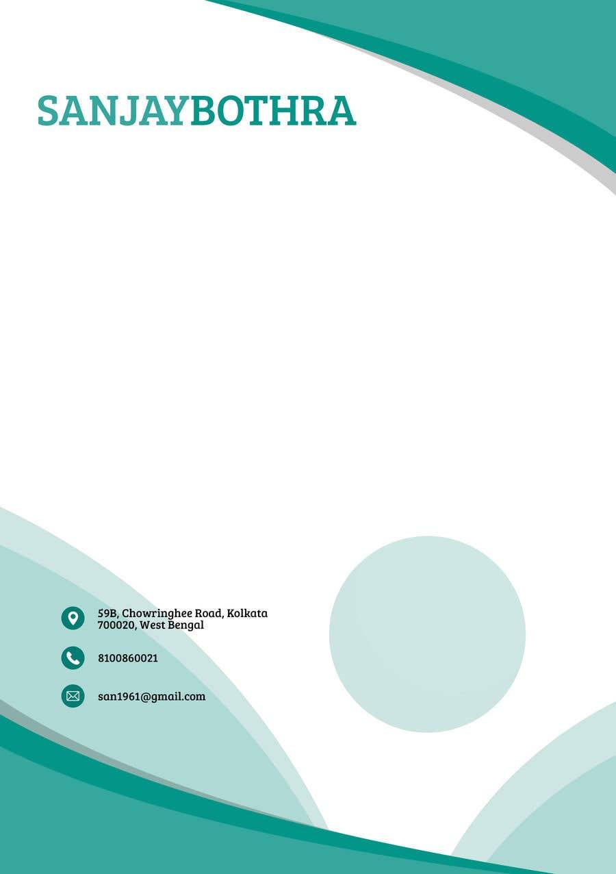 Konkurrenceindlæg #189 for Letterhead design