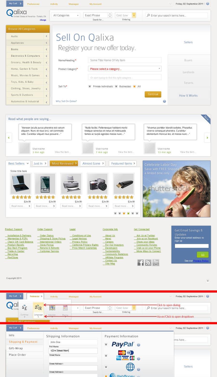 Participación en el concurso Nro.                                        2                                      para                                         Website Design review