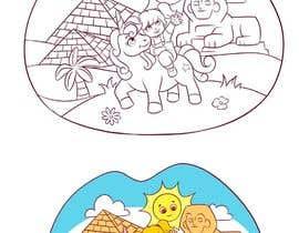 #27 for Colouring eBook Illustration for Kids (Girl & Her Unicorn) by mugenonizuka