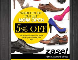 #11 untuk Flyer Design for the opening of a shoe warehouse outlet oleh mishyroach