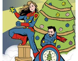 #15 for Cartoon drawings(Marvel like) of me and my girlfriend for a christmas cards af sengnirane