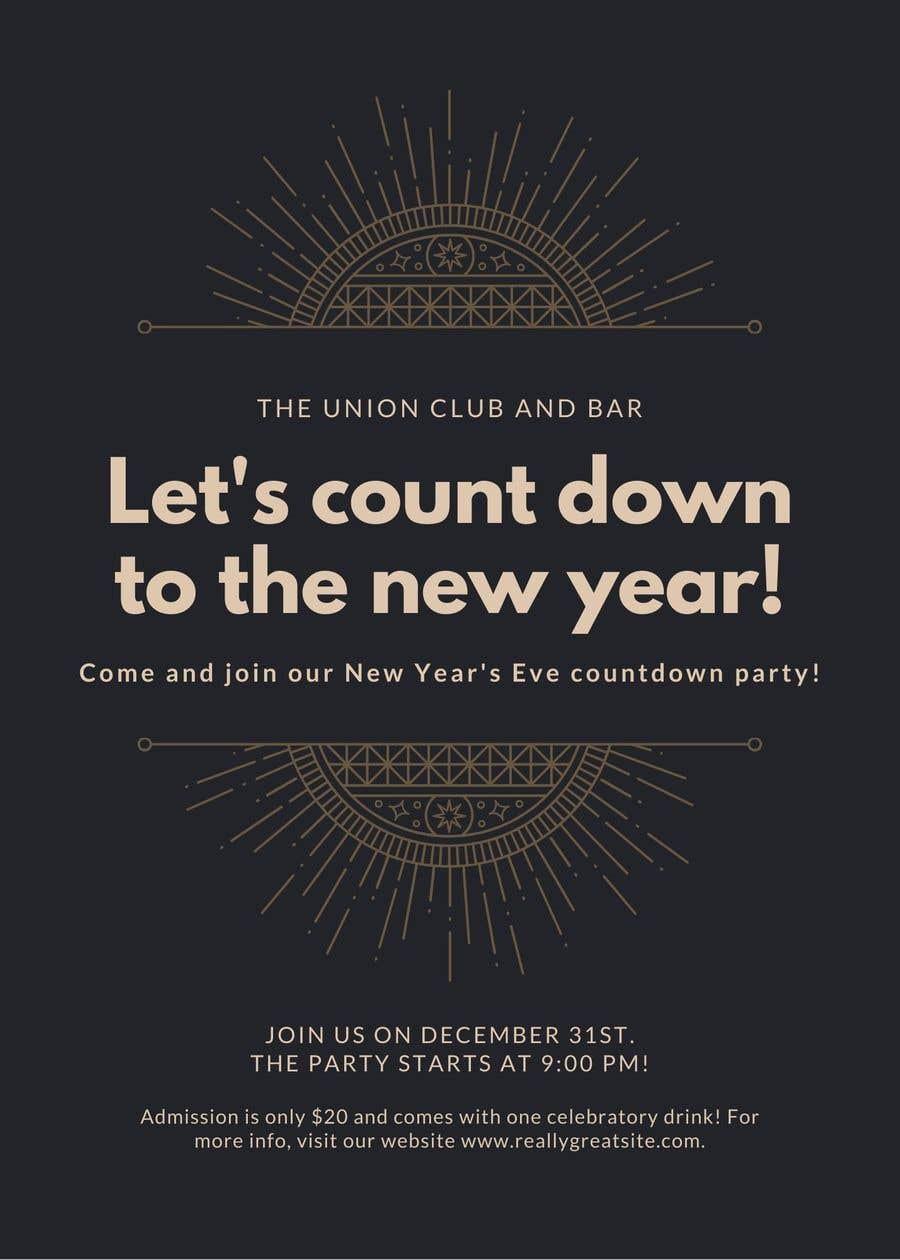 Penyertaan Peraduan #                                        31                                      untuk                                         New years Flyer Design
