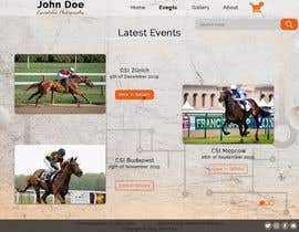 #25 for Web(shop) design for a equestrian sport photographer (only the design) af TheTravLRD