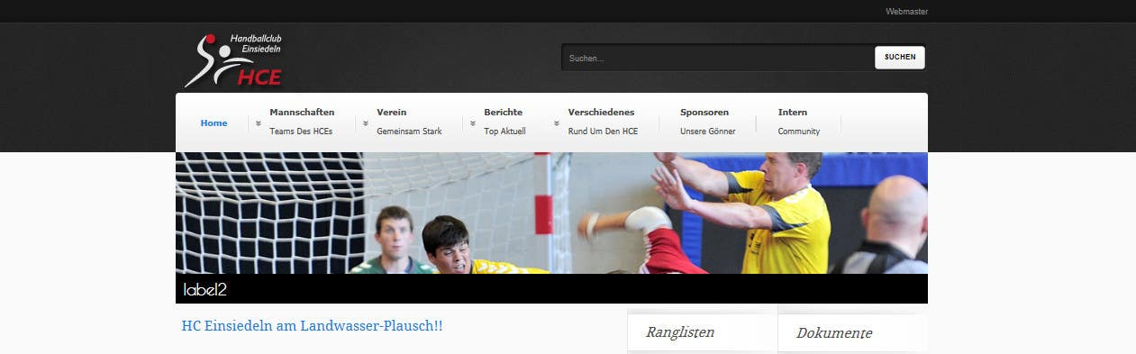 Contest Entry #                                        5                                      for                                         Logo integration into existing html template for a local sports club (handball)