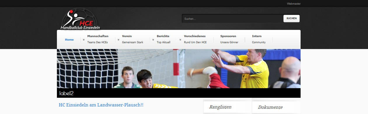 Contest Entry #                                        9                                      for                                         Logo integration into existing html template for a local sports club (handball)