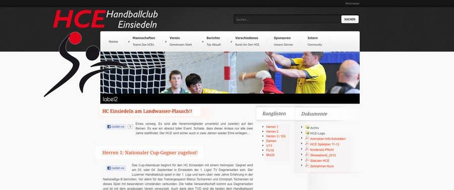 Bài tham dự cuộc thi #                                        11                                      cho                                         Logo integration into existing html template for a local sports club (handball)