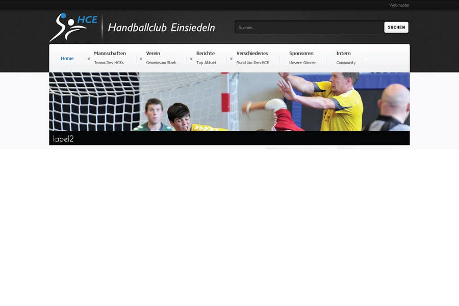 Bài tham dự cuộc thi #                                        13                                      cho                                         Logo integration into existing html template for a local sports club (handball)