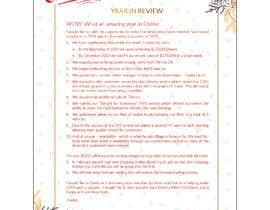 #19 cho Edit and re-design professional christmas letter bởi ziauddin1973