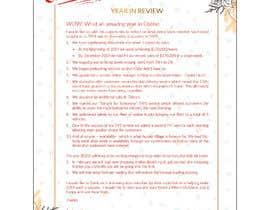 #19 для Edit and re-design professional christmas letter от ziauddin1973