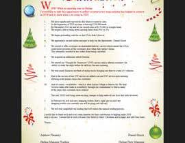 #21 для Edit and re-design professional christmas letter от focusbilal