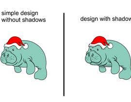 #46 for T-shirt design manatee with Christmas hat af Adriangtx