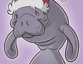 #27 for T-shirt design manatee with Christmas hat af DivineTofu