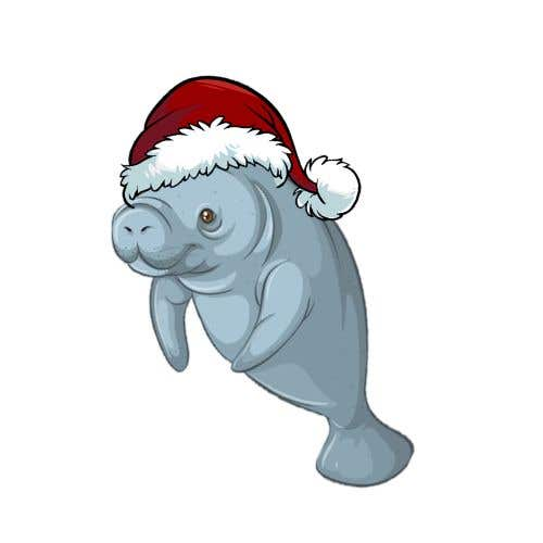 Konkurrenceindlæg #48 for T-shirt design manatee with Christmas hat