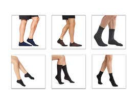 #40 pentru Photo Shop Sock images on to models for ecomerce website de către aks2oyd6s