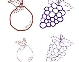 #32 for draw Hanrabong and Grape in vector illutration af Isaravanan