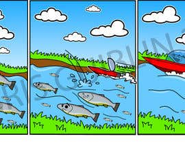 nº 41 pour Cartoon for Salmon Swimming Upstream par chrisguiblin