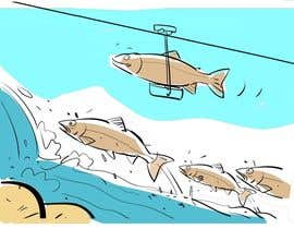 nº 18 pour Cartoon for Salmon Swimming Upstream par artinearth