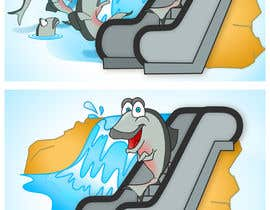 #34 para Cartoon for Salmon Swimming Upstream por cocovisual
