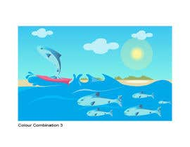 #33 para Cartoon for Salmon Swimming Upstream por YogNel