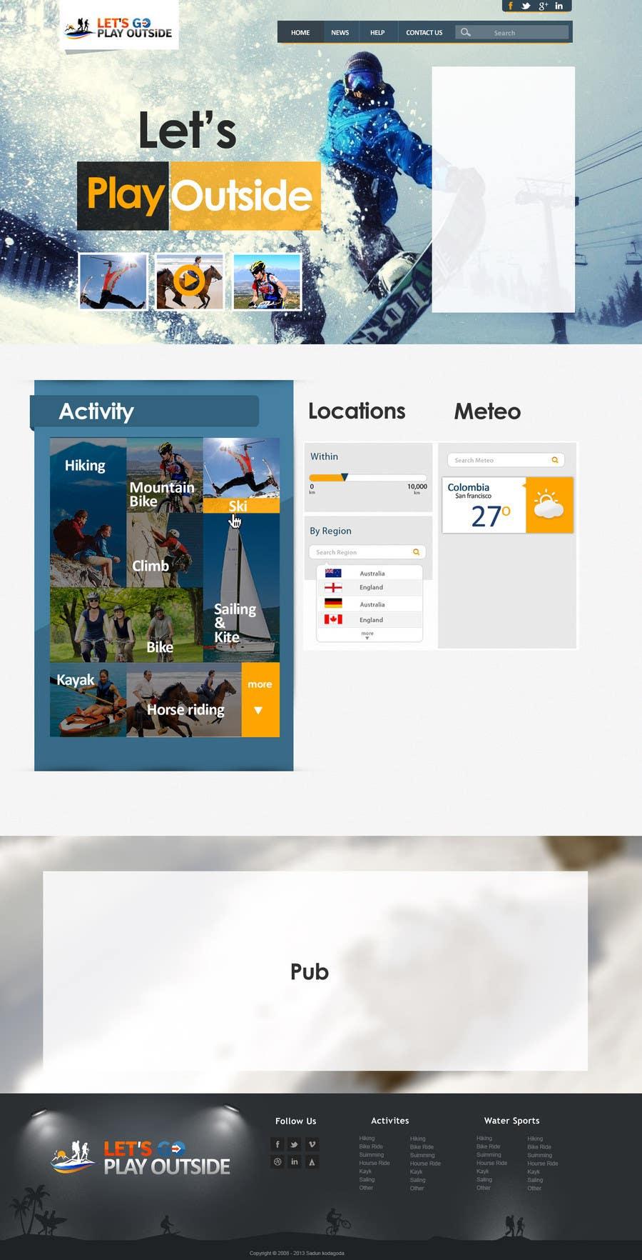Kilpailutyö #23 kilpailussa Website Design for Let's Go Play Outside