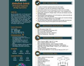 #36 for Professional CV Design (Resume) af abujafarbbd91