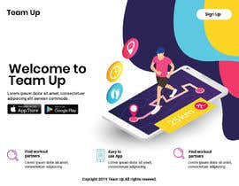 #20 for Build A Mockup Landing Page for a Fitness App af TheSRM