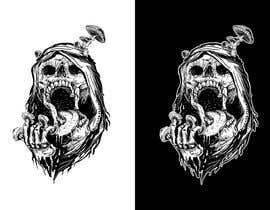 Nro 108 kilpailuun T-Shirt Design - Illustrate an evil skull (UP-004) käyttäjältä orrlov