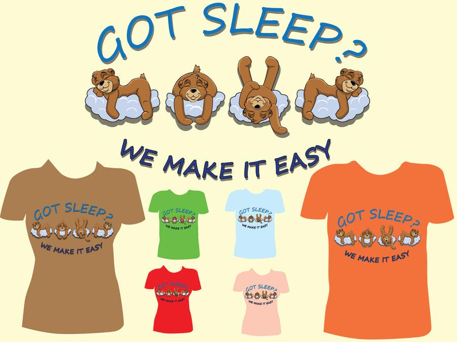Proposition n°                                        22                                      du concours                                         T-shirt Design for Tired Teddies Guerrilla Marketing Campaign