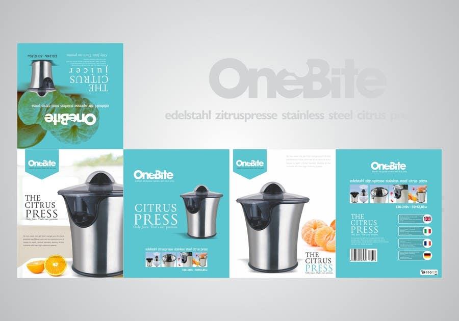 Bài tham dự cuộc thi #                                        26                                      cho                                         Create Minimalistic Print and Packaging Designs for a Citrus Juicer