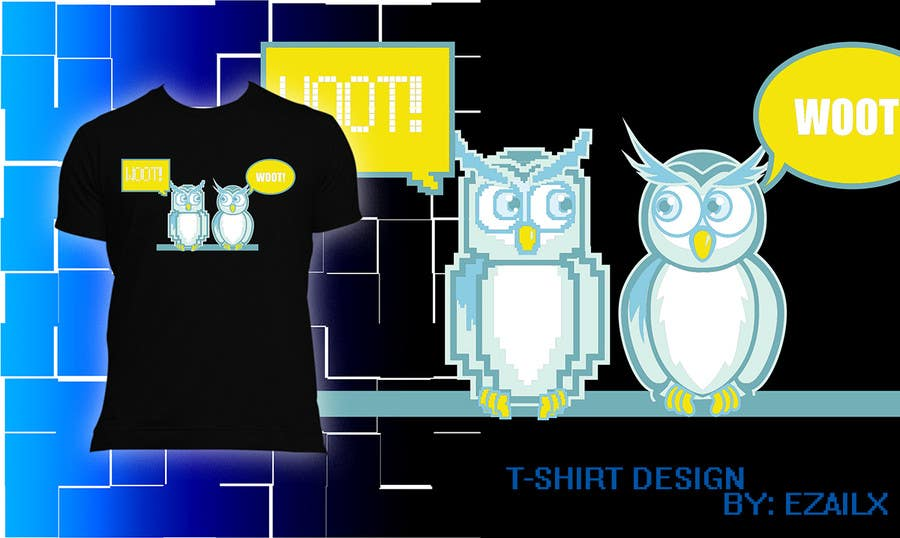 Bài tham dự cuộc thi #60 cho T-shirt Owl Design for Geek/Gamer Shop