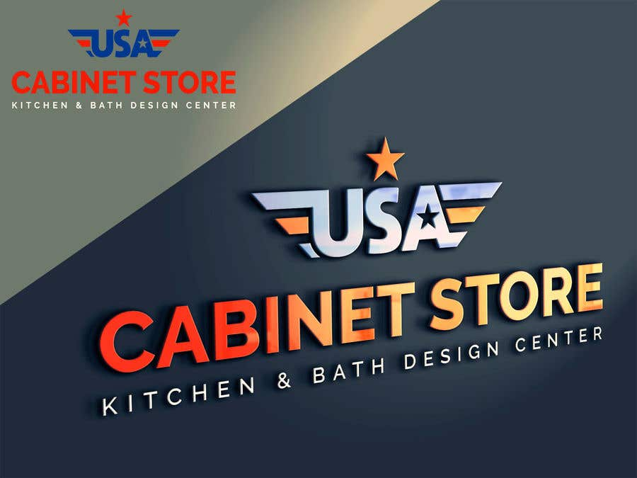 Entry 12 By Hsiuj71 For Usa Cabinet Store Logo Freelancer