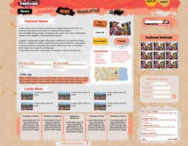 #13 для Website Design for eFestivals от Vmuscurel