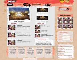 #12 per Website Design for eFestivals da Vmuscurel