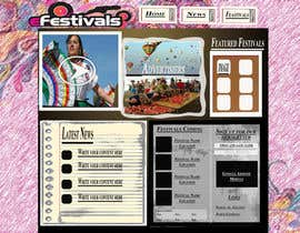 #9 pentru Website Design for eFestivals de către wingedove