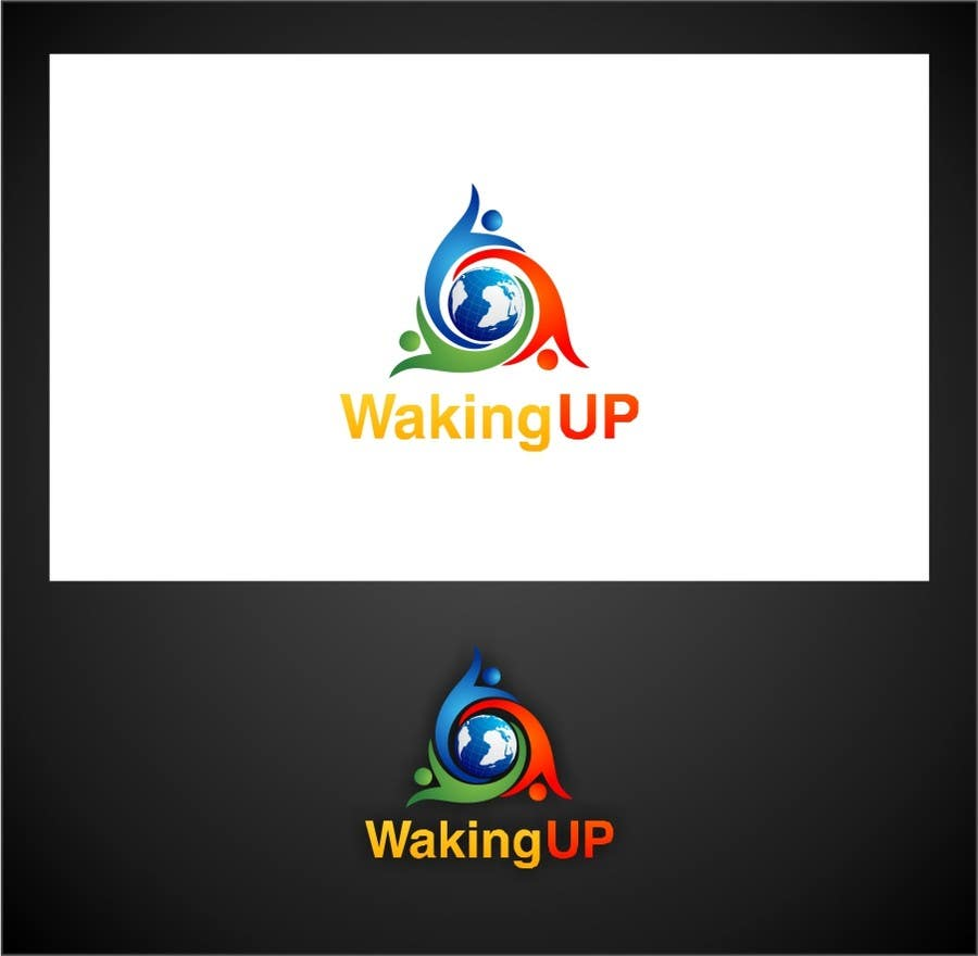 Proposition n°                                        46                                      du concours                                         LOGO representing 'waking up', 'awareness', 'knowledge' for humanitarian adventure