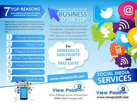 nº 5 pour Tri-Fold Brochure Design for Social Media Marketing Sevices par creationz2011