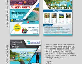 nº 63 pour A Travel company needs a design template for brochure, social media posts and marketing par Muhib10